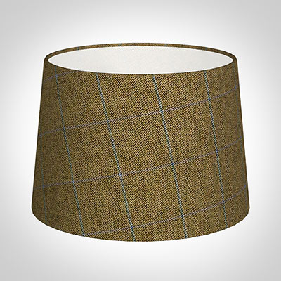 35cm Medium French Drum in Angus Check Lovat Wool