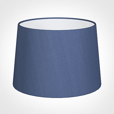 35cm Medium French Drum Shade in Slate Blue Silk