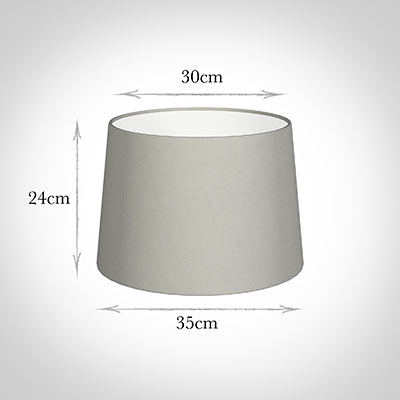 35cm Medium French Drum Shade in Soft Grey Waterford Linen