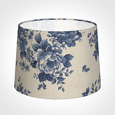 40cm Medium French Drum Shade in Blue Bloom