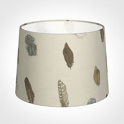 40cm Medium French Drum Shade in Stone Featherdown
