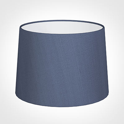 40cm Medium French Drum Shade in Blue Faux Silk