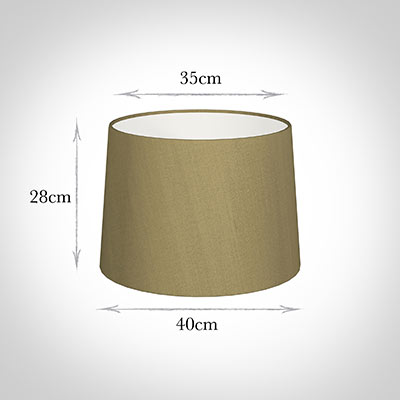 40cm Medium French Drum Shade in Dull Gold Faux Silk