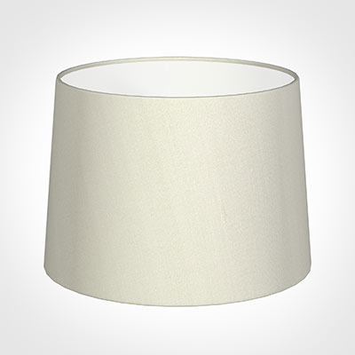 40cm Medium French Drum Shade in Pearl Faux Silk
