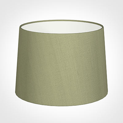 40cm Medium French Drum Shade in Pale Green Faux Silk
