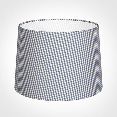 40cm Medium French Drum Shade in Blue Longford Gingham