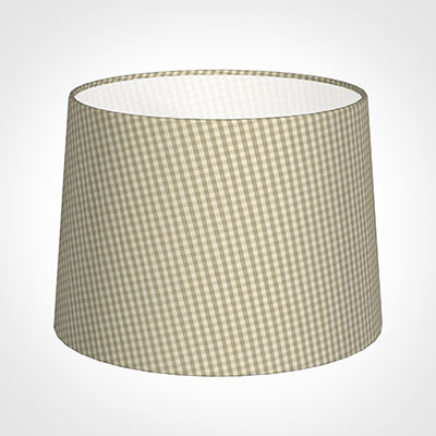 40cm Medium French Drum Shade in Natural Longford Gingham