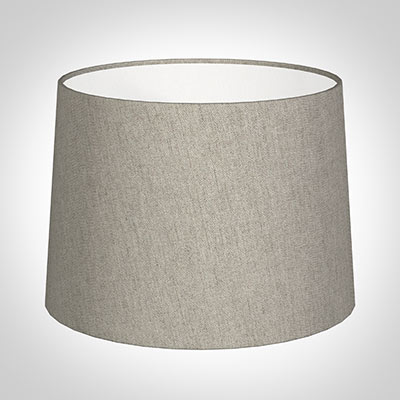 40cm Medium French Drum in Limestone Herringbone Lovat Tweed