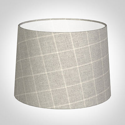 40cm Medium French Drum in Stirling Check Lovat Wool