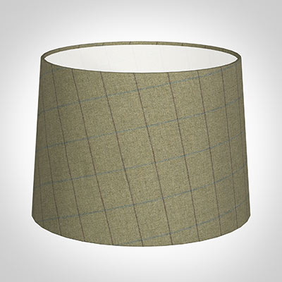 40cm Medium French Drum in Talisker Check Lovat Wool