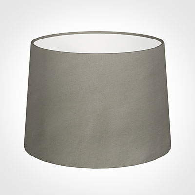 40cm Medium French Drum Shade in Pewter Satin