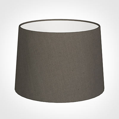 40cm Medium French Drum Shade in Mouse Waterford Linen