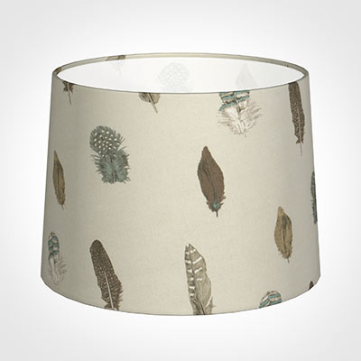 45cm Medium French Drum Shade in Stone Featherdown