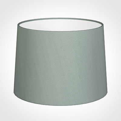 45cm Medium French Drum Shade in Aquamarine Faux Silk