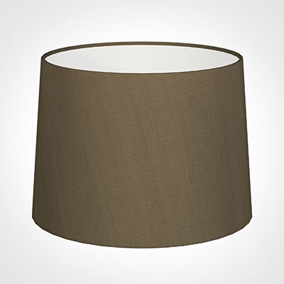 45cm Medium French Drum Shade in Bronze Faux Silk
