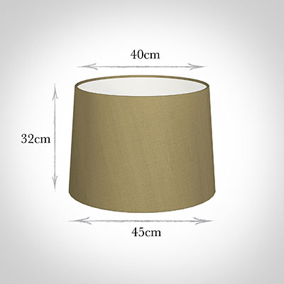 45cm Medium French Drum Shade in Dull Gold Faux Silk
