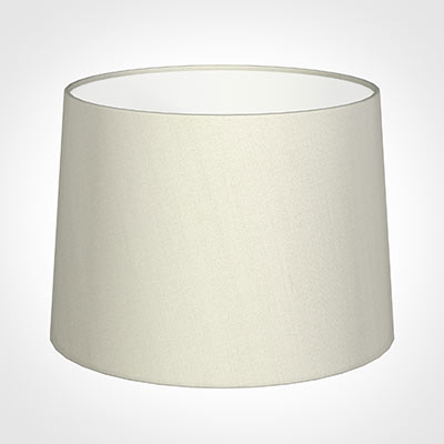 45cm Medium French Drum Shade in Pearl Faux Silk