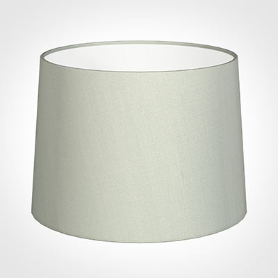 45cm Medium French Drum Shade in Soft Grey Faux Silk
