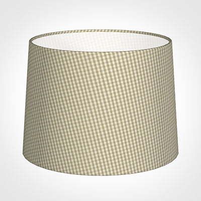 45cm Medium French Drum Shade in Natural Longford Gingham