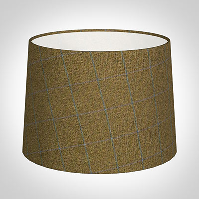 45cm Medium French Drum in Angus Check Lovat Wool