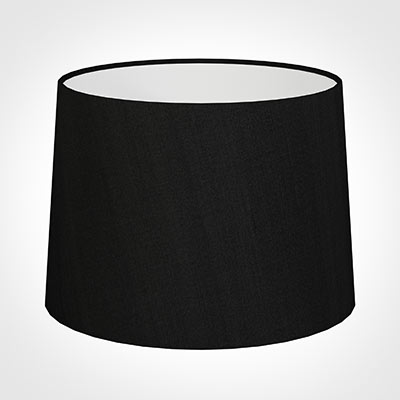 45cm Medium French Drum Shade in Black Silk
