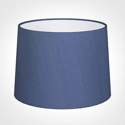45cm Medium French Drum Shade in Slate Blue Silk