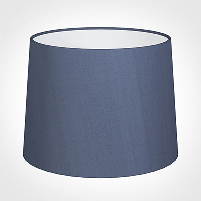 50cm Medium French Drum Shade in Blue Faux Silk