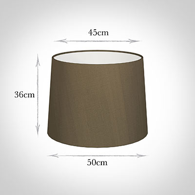 50cm Medium French Drum Shade in Bronze Faux Silk