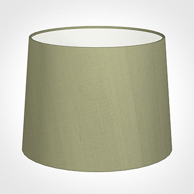 50cm Medium French Drum Shade in Pale Green Faux Silk