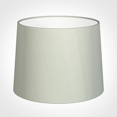 50cm Medium French Drum Shade in Soft Grey Faux Silk