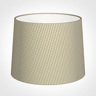 50cm Medium French Drum Shade in Natural Longford Gingham