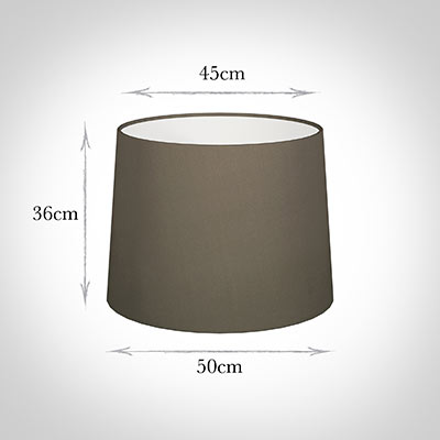 50cm Medium French Drum Shade in Bark Satin