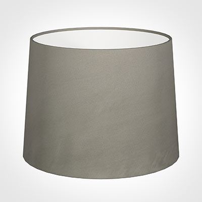 50cm Medium French Drum Shade in Pewter Satin