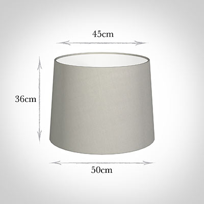 50cm Medium French Drum Shade in Soft Grey Waterford Linen