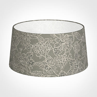 45cm Wide French Drum Shade in Grey Cheveley