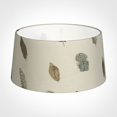 45cm Wide French Drum Shade in Stone Featherdown