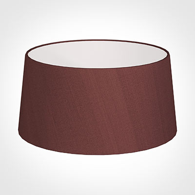 45cm Wide French Drum Shade in Old Red Faux Silk