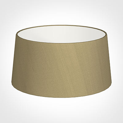45cm Wide French Drum Shade in Oyster Faux Silk
