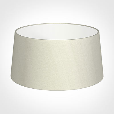 45cm Wide French Drum Shade in Pearl Faux Silk