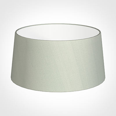 45cm Wide French Drum Shade in Soft GreyFaux Silk