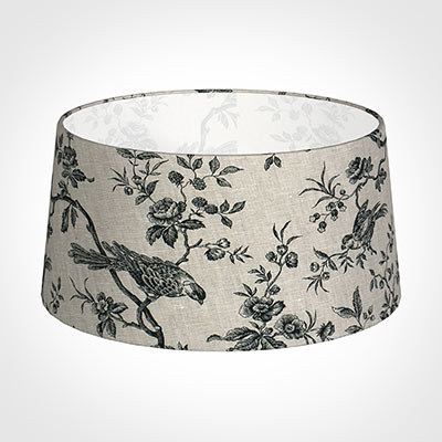 45cm Wide French Drum Shade in Black Isabelle