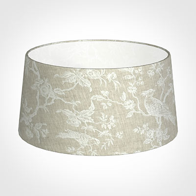 45cm Wide French Drum Shade in White Isabelle