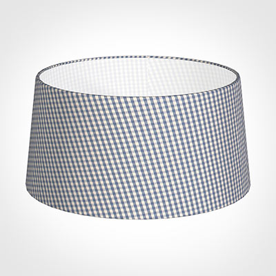 45cm Wide French Drum Shade in Blue Longford Gingham