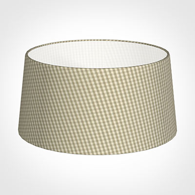 45cm Wide French Drum Shade in Natural Longford Gingham