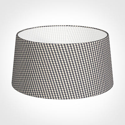 45cm Wide French Drum Shade in Grey LongfordGingham