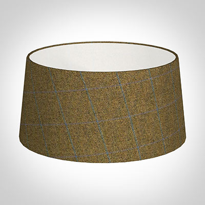 45cm French Drum in Angus Check Lovat Wool