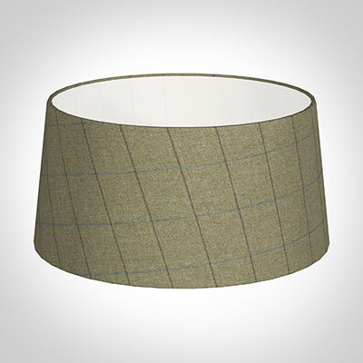45cm French Drum in Talisker Check Lovat Wool