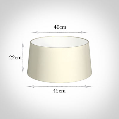45cm Wide French Drum Shade in Cream Satin