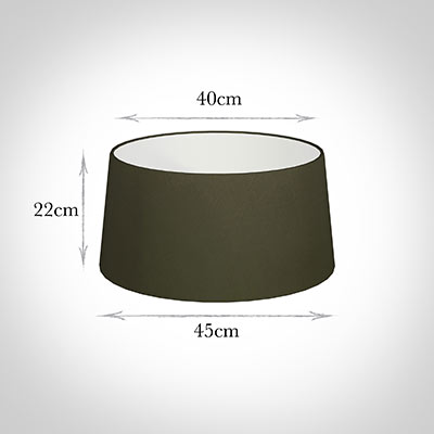 45cm Wide French Drum Shade in Laurel Satin