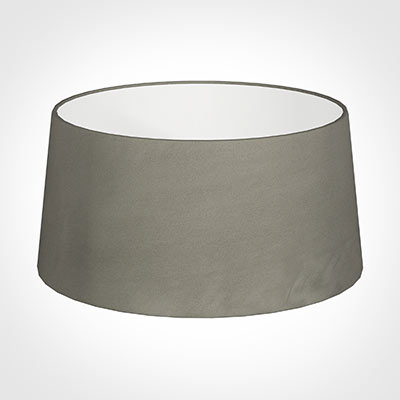 45cm Wide French Drum Shade in Pewter Satin